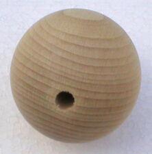 Holzkugeln Ø 40 mm Kugel mit halber Bohrung Buche natur Rohholzkugeln