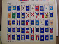 "United States Scott  1633 - 1662 American Bicentennial ""State Flags"" Sheet 1662a"