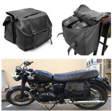Black Motorcycle Bike Rear Tail Bag Back Pack Saddle Bags Large Capacity Storage