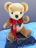 Merrythought 10 Inch London Classic Gold Mohair Teddy Bear - From US Seller!