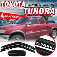Fit 00-06 Toyota Tundra Extended Cab Smoke Window Visor Rain Sun Guard Deflector