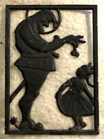 Vintage Hanging Iron Wall Decor (A Man With A Sword Offering Cherries To A Girl)