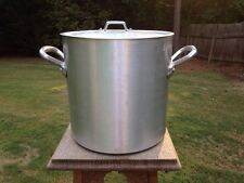 "Vintage 9.5"" Williams Sonoma Mauviel Aluminum Stock Pot Pan 12 Qts. 3.8mm W/Lid"