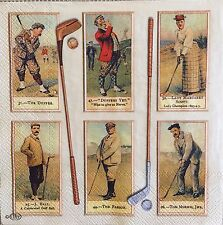 2 single paper napkins Servietten Serwetki for Decoupage Crafts Collection Golf