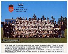 1969 NFL New Orleans Saints Color Team Picture 8 X 10 Photo Picture