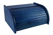 Wooden BREAD BIN Box With Roll Top, Beech Wood 40 x 29 cm NEW 14 choice COLOURS