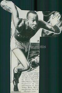 1936 Jesse Owens Ohio State Olympic Gold Medalist Original News Service Photos-2