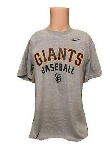 NWT Men's San Francisco Giants Baseball NIKE Gray Shirt Size Medium