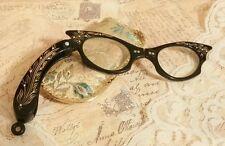 Hattie Carnegie Bookpiece Folding Eyeglasses Reading Longerette Opera Magnifier