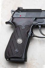 Wilson Combat G10 Grips, Checkered with WC Logo, Black Cherry | Beretta 92/96