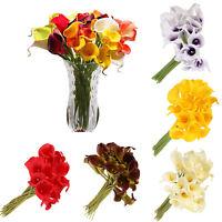 10/20x Artificial Latex Calla Lily Flowers Bouquet Garden Home Wedding Decor DIY