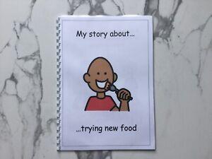 PECS/Boardmaker Trying New Foods Social Story for Autism/ASD/ADHD/SEN/Aspergers