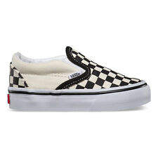 VANS Toddlers Checkerboard Slip-On Black/Off White/ White Free Shipping
