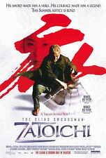 ZATOICHI Movie POSTER 27x40 B Beat Takeshi Kitano Tadanobu Asano Yui Natsukawa