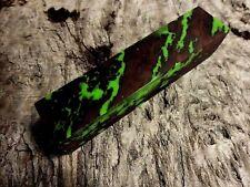 Australian Red Gum Burl Wood Knife Blocks (Resin Cast - Green)