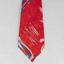 Corbata en colores brillantes de Italia patrón abstracto Lorenzo Medici Moda italiana