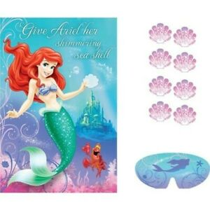 """The Little Mermaid Ariel Party Game - """"Give Ariel her Shimmering Sea Shell"""""""