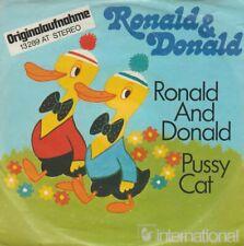 """Ronald & Donald Ronald And Donald / Pussy Cat 1974 Hansa 7"""" Single"""