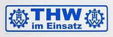Targa magnetica THW im Einsatz | scudo magnetico | Bianco/Blu, (x3G)