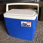 Vintage Coleman Oscar Blue & White 16 Quart Cooler #5274  1985 USA