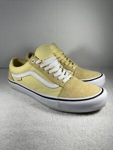 Vans Old Skool Vibrant Yellow Men Skate Sneaker Size 10.5 PRO ULTRACUSH HD