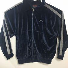 Vintage FUBU Mens Velour Track Jacket Mens Size Medium Blue Full Zip