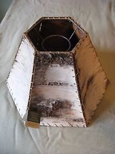 Vintage Ojibwe Native American Indian white birch bark lamp shade