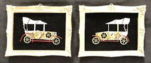 "Model T Cars original miniature watch piece collage 2""x2.5"" G.Burgess Cornwall"