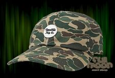 New Brixton Wheeler Olive Camo Dad Relax Fit Strapback Cap Hat