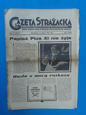 Gazeta Strazacka Warszawa 15 lutego 1939 roku.