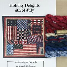 Needle Delights Debbie Rees Fourth of July Kit Needlepoint counted canvas