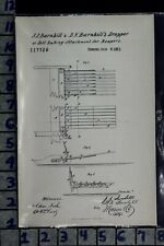 1871 BARNHILL VINCENNES INDIANA HARVESTER FARM IMPLEMENT PATENT LITHO 117726