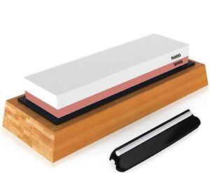 Dual Sided Whetstone Waterstone Knife Sharpening Sharpener Stone 3000/8000 Grit