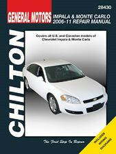 2006-2011 Chevrolet Impala & Monte Carlo Chilton Repair Service Shop Manual 0476