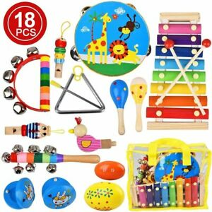 Musical Instruments Sets Toys Baby Kids Musical Toys Educational Learning 18pcs