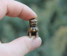 China 100% Pure Bronze Foo Dog Beast Lion Aniaml Mother and Son Amulet Sculpture