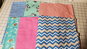 52 x 22 Standard Daycare Flannel cot sheets Assorted Prints (6 sheets)