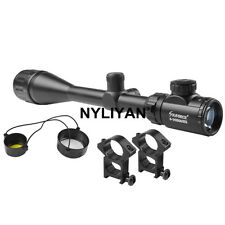 6-24X50AOEG Illuminated Mil-dot Rifle Scope W/ 20mm Rail Mounts Set for Hunting