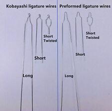 100 Pc Dental Orthodontic Preformedkobayashi Ligature Wire Bracket Longshorty