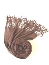 New Pashmina Scarf Shawl Veil Brown Quality Wrap Woman Wedding Accessory