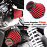 Motorcycle 35mm Air Intake Filter Cleaner Red Universal For Honda Scooter ATV