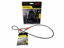 Kryptonite Evolution Series 4 Disc Lock Black and 525 2.5 ft Looped cable