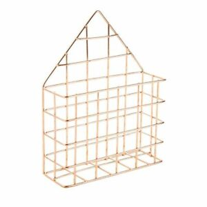 Juvale Mail Holder, Wire Metal Wall for Office Home Entryway, 6 x 7.6 x 2.1 inch