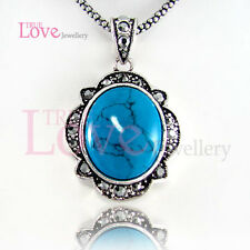 Swarovski Crystal Np1479 Turquoise Vintage Necklace Made with