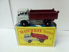 538-MATCHBOX LESNEY MOKO #3B BEDFORD TIPPER TRUCK AND ORIGINAL D TYPE BOX