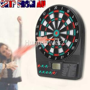 Electronic Dart Board Set LED Scoring Display With 3 Soft Tip Darts AU STOCK