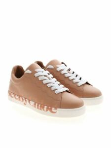 See by Chloe Essie Sneakers Trainers Nude Beige Leather Logo UK size 3 Eur 36