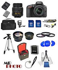 Nikon D5500 Digital SLR Camera Black +3 Lens: 18-55mm VR Lens + 32GB Bundle NEW