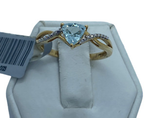 18K Gold Paraiba Tourmaline & Diamond Size P-Q /8 Ring  tgw 0.65 Carats