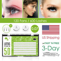[US Shipping] 5D Premade Fan Lashes Russia Volume Pre-Fan Eyelash Extensions